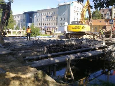 Białystok- rozbiórka mostu przy ulicy Świętojańskiej