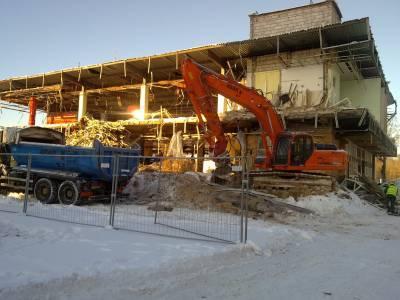 Białystok- rozbiórka pawilonu handlowego ABC- Market